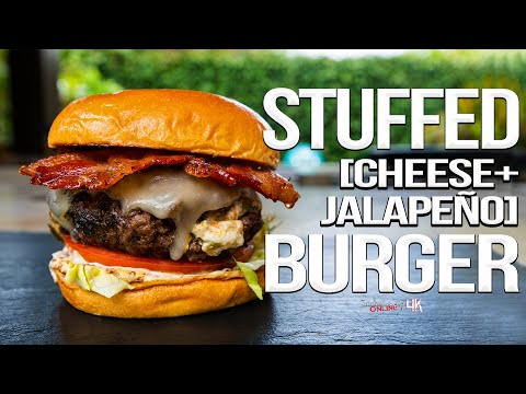 The Best Stuffed Burger – Cheesy Jalapeño Style | SAM THE COOKING GUY 4K