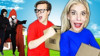 MATT AND REBECCA ARE MOVING! (Found Hidden HACKER Cameras in Safe House after 24 Hours Searching)