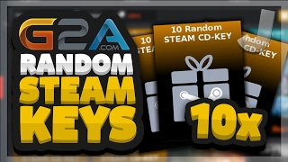 G2A.com 10x Random STEAM CD-KEY OPENING (Random Steam Games)