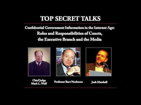 Top Secret Talks - Confidential Government Information in th