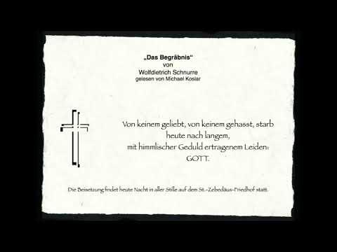 "Michael Koslar liest - ""Das Begräbnis"" v. Schnurre"