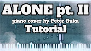 Alone pt. II - Piano cover by Peter Buka - Tutorial/Transcription видео