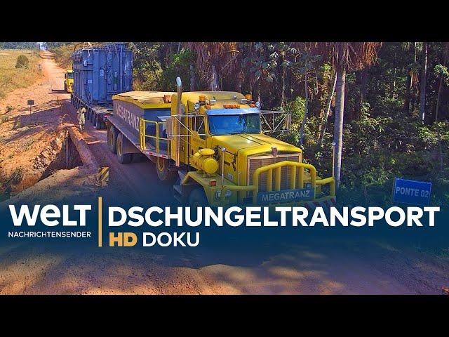 Schwertransport im brasilianischen Dschungel   HD Doku