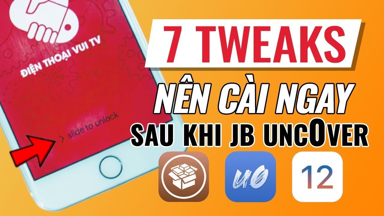 7 TWEAKS nên cài: Slide to Unlock, iPhone X Gesture, Cylinder,...