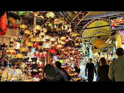 Shopping at Grand Bazaar Istanbul Turkey Tourism Travel Vide