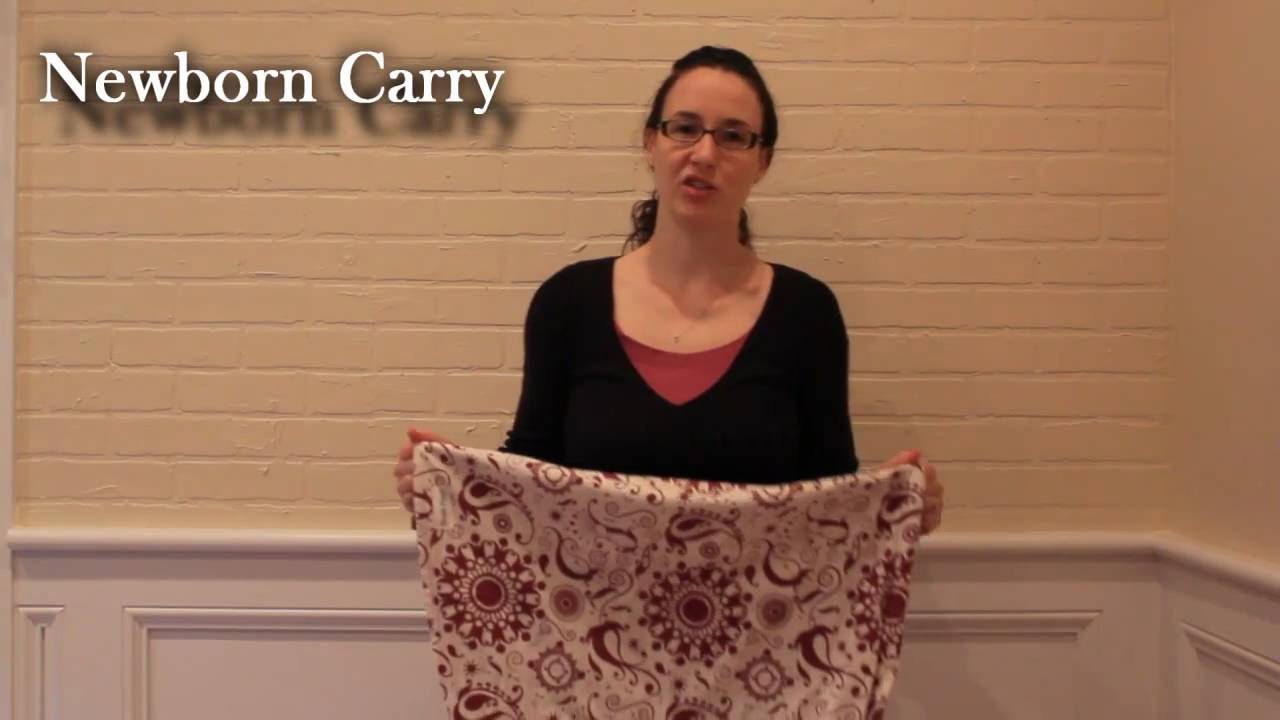 How To Wear A Baby Sling Youtube