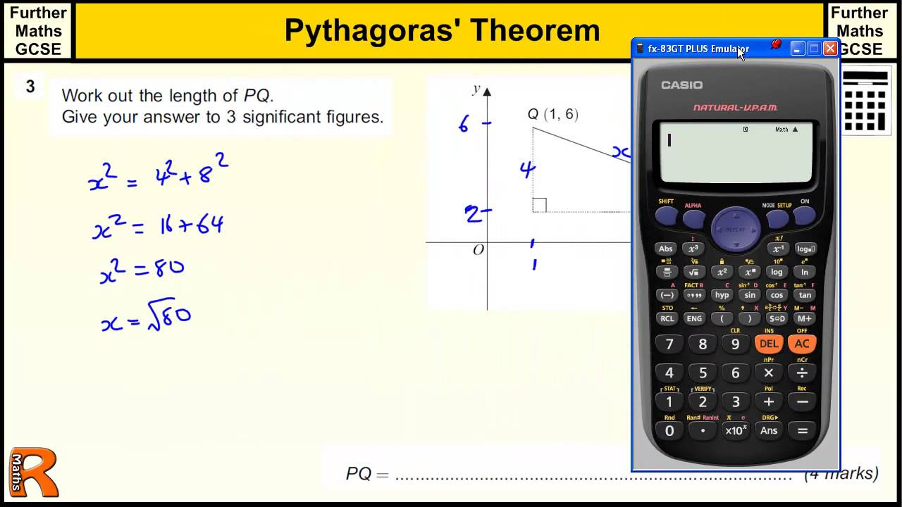 Pythagoras Theorem GCSE Further Maths revision Exam paper practice ...