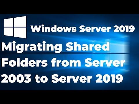 PART-4 Migrating Shared Folder From Server 2003 To Server 2019