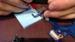 Laptop ac dc power jack repair socket input port fix samsung 300e np300e5a