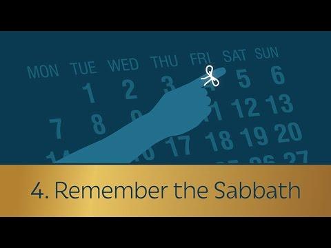 4. Remember the Sabbath
