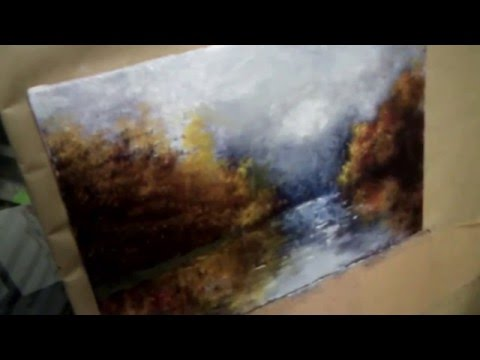 How-to paint an oil painting of a landscape.