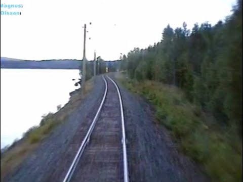 Sweden. LUDVIKA - GRYTHYTTAN (2005) Train Driver's Cab View from Y1 1295