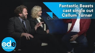 Fantastic Beasts cast single out Callum Turner over one-word answers