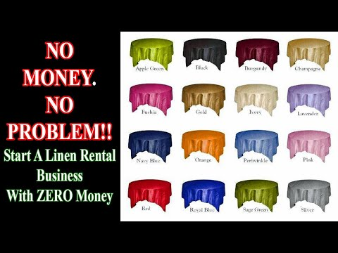 Start a linen rental business with NO MONEY!