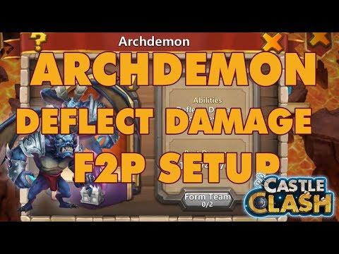 Archdemon Deflect Damage F2P Setup 118+ Million Damage | Castle Clash