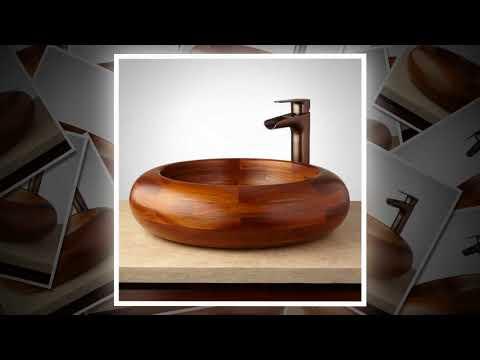 видео: Деревянные раковины, - невероятный интерьер в ванной | wooden bowls