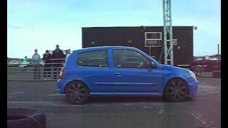 Renault Clio Sport 182 vs Standard MK4 Seat Ibiza Cupra TDI @ CRAIL