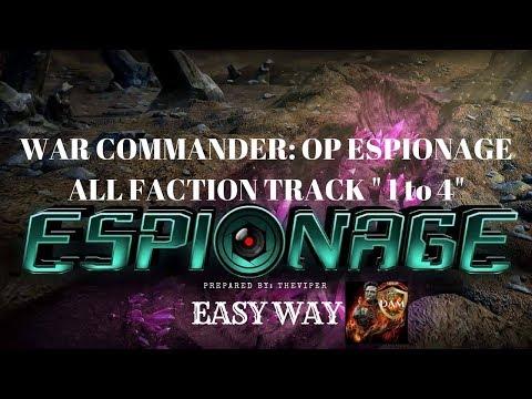 War Commander: OP Espionage -  ALL Faction Tracks 1 to 4 | Dec 2017