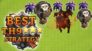 """BEST TH9 """"LavaLoon"""" ATTACK STRATEGY GUIDE!! Clash of Clans BEST Town Hall 9 Attack Strategy 2017"""