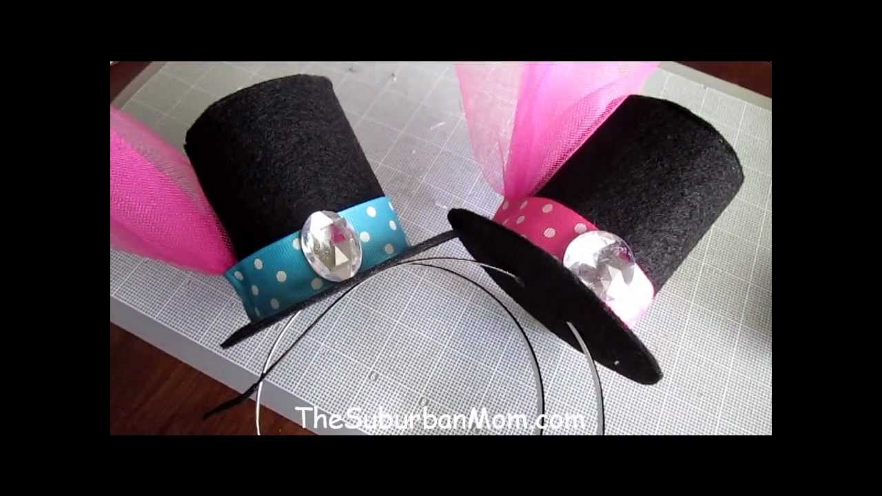 a3d55918bfe How To Make A Mini Top Hat Tutorial - DIY Alice in Wonderland Mad Hatter -  YouTube