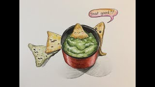 How To Draw Kawaii (かわいい | 可愛い) Tortilla Chips |  (Step by Step Easy)