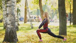 Sporty Slender Woman Lifting Fitness Ball - (lifestyle) Stock Footage | Mega Pack +20 items