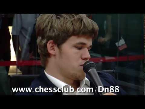 Bilbao 2011: Carlsen's Grand Slam interview
