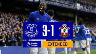 EXTENDED HIGHLIGHTS: EVERTON 3-1 SOUTHAMPTON