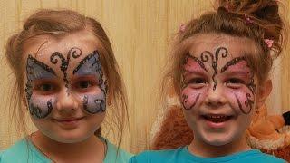 аквагрим рисунки на лице для начинающих бабочка faceart butterfly лицо ребенка(Как разукрасить лицо ребенка? В этом видео вы увидите простой аквагрим для начинающих. Аквагрим - это рисунк..., 2016-07-07T19:11:24.000Z)