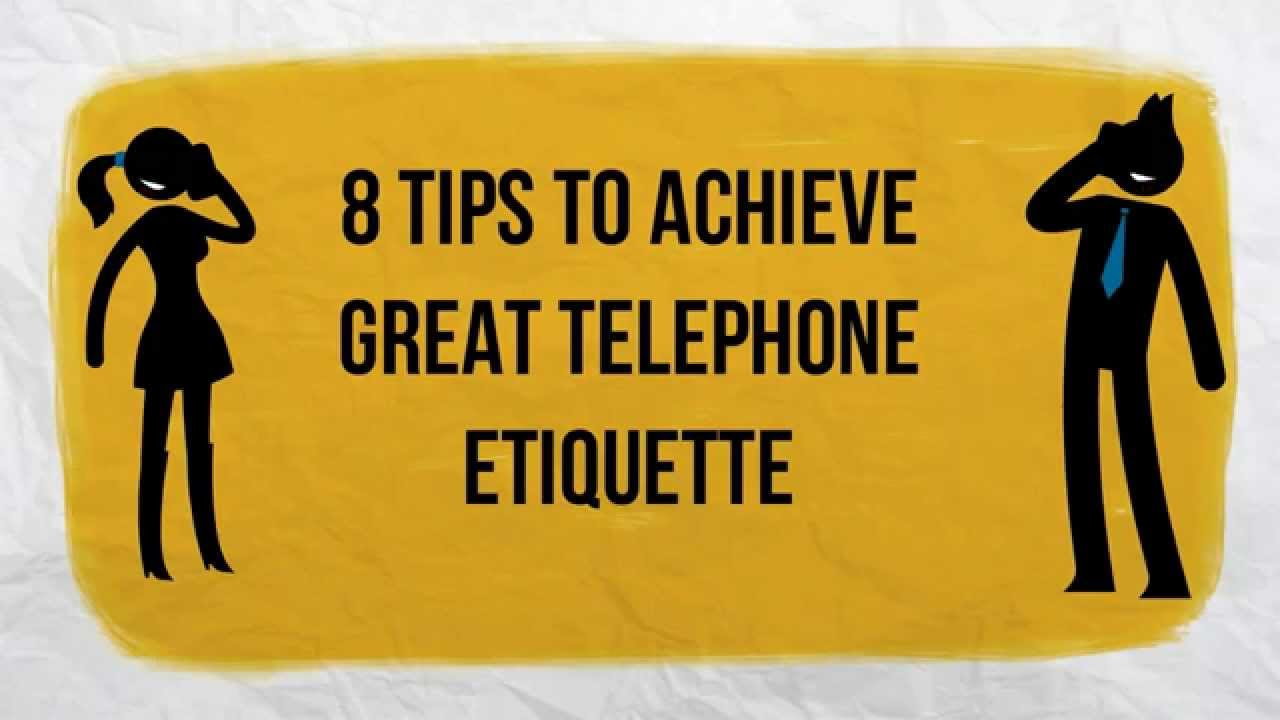8 telephone etiquette tips Telephone etiquette tips in the business world, it is incredibly important to convey a professional image, not only in person but on the telephone as well.