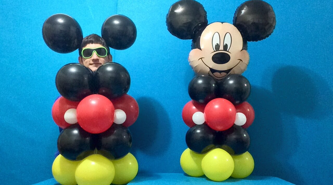 easy mickey mouse balloon decoration youtube