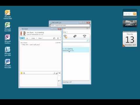 Make A Call Using Lync 2010