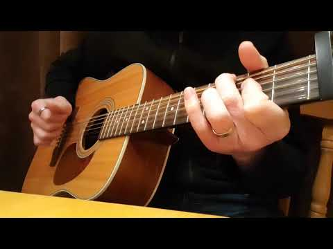 12 string acoustic guitar - claw hammer style