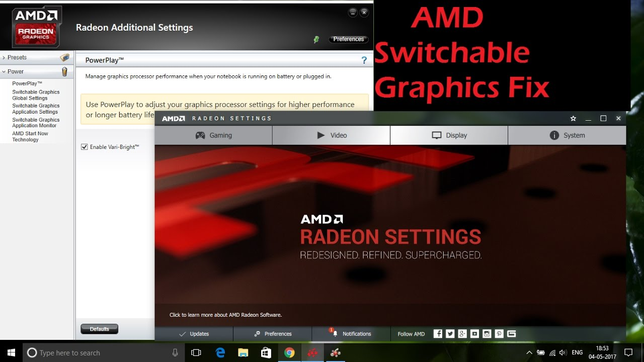 AMD Switchable Graphics Fix for Windows 7, 8, 8 1 & 10 (Step 1- 11)
