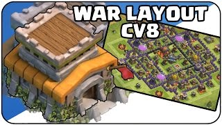 MELHOR LAYOUT DE GUERRA PARA CV8 - BEST WAR LAYOUT CV8 (Clash of clans)