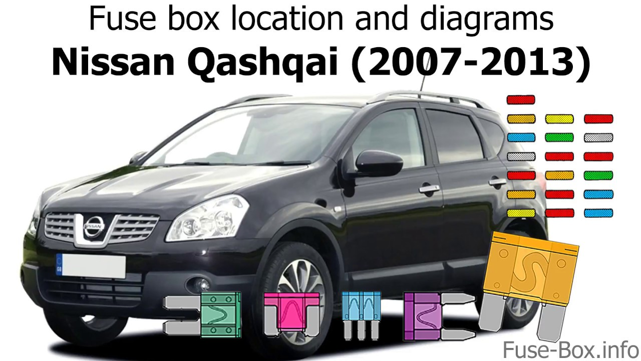 Fuse box location and diagrams: Nissan Qashqai / Qashqai+2 ... Nissan Qashqai Wiring Diagram on