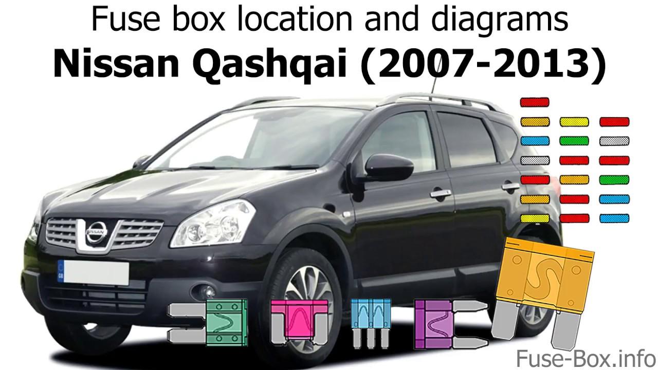 small resolution of fuse box location and diagrams nissan qashqai qashqai 2 2007