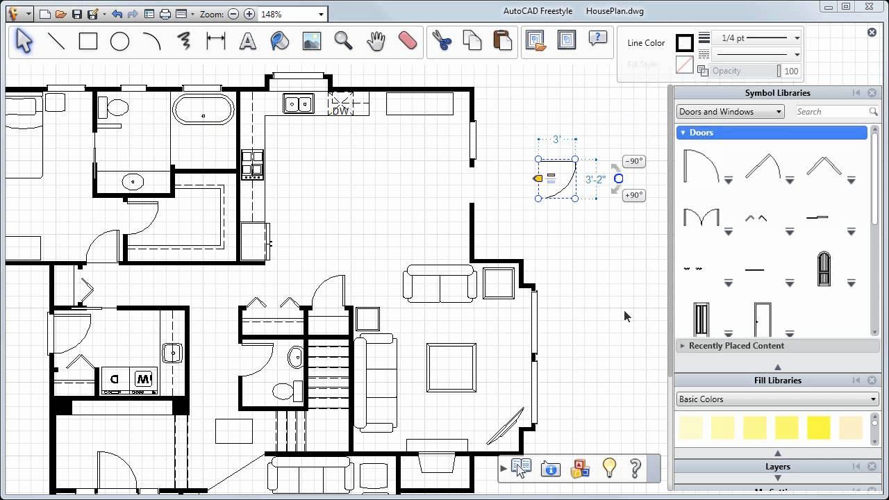 Adding Doors, Windows and More — AutoCAD Freestyle Symbols