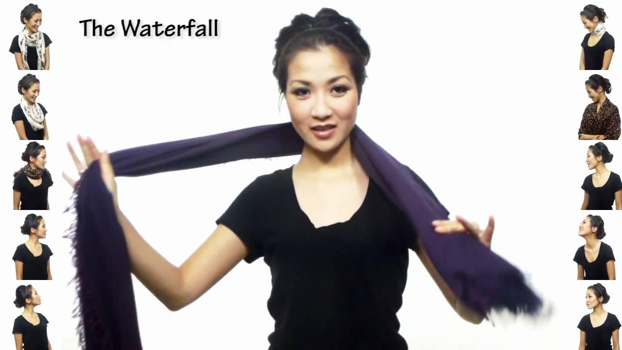 25 fa ons de porter une charpe youtube - Comment ranger les foulards ...