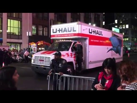 UNITED STATES SECRET SERVICE USING CIVILIAN UHAUL TRUCK FOR OPERATIONS DURING POPE FRANCIS DUTY.