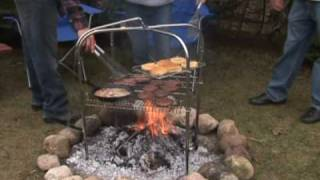 Cooking | Quad Pod Campfire Grill by Grate Mate Outdoor LLC
