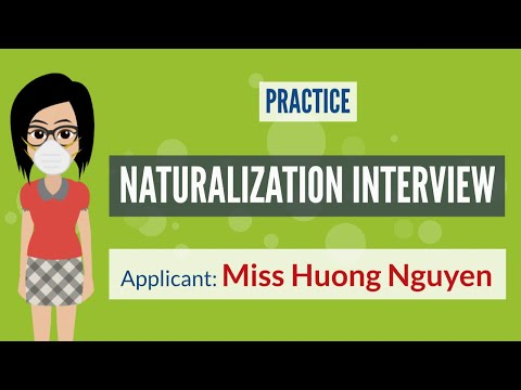 US Naturalization Mock Interview With Miss Huong Nguyen