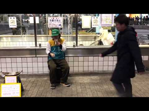 Shibuya , Tokyo 26/02/2017 ,RyoTracks BeatBox