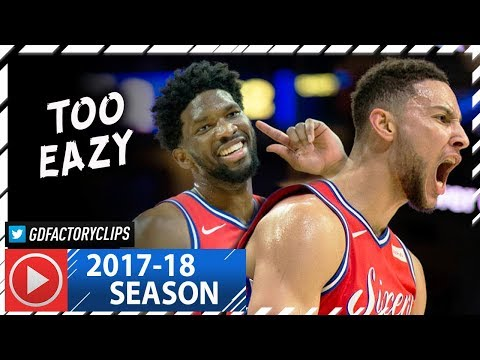 Ben Simmons 19 Pts & Joel Embiid 23 Pts Full Highlights vs Pistons (2018.01.05) - In 3 Quarters!