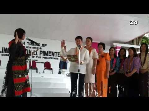 SEN. KOKO PIMENTEL Oath Taking at Mati, Davao Oriental  22 Minutes