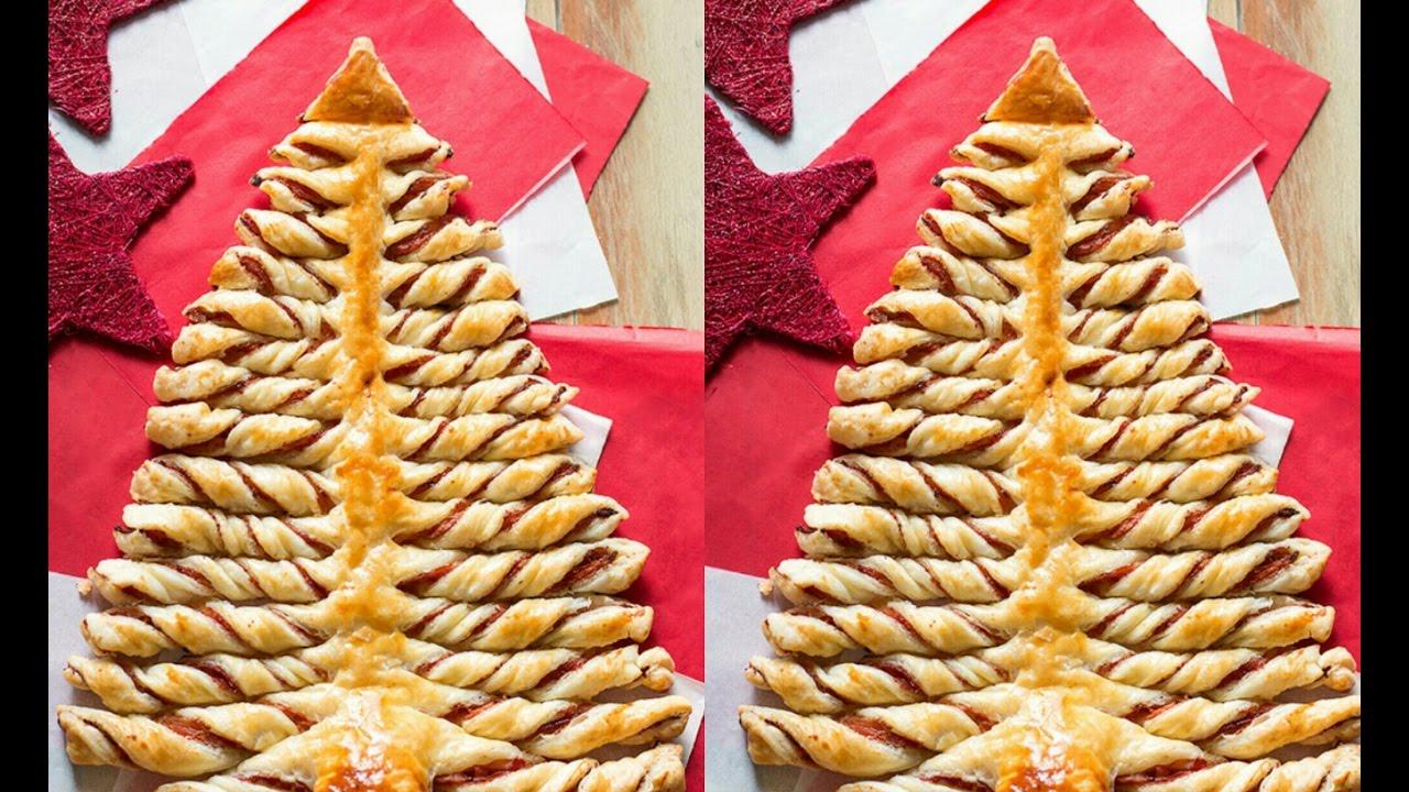 Albero Di Natale Di Pasta Sfogliachristmas Tree Of Puff Pastry