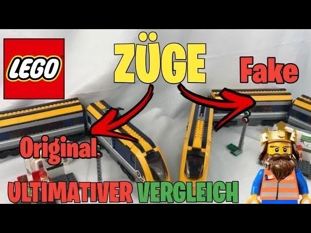 ULTIMATIVER VERGLEICH: LEGO ® CITY Zug VS FAKE Zug