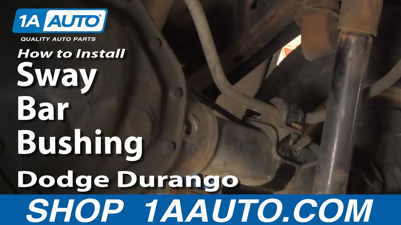 How To Install Replace Rear Sway Bar Bushings Dodge Durango Dakota