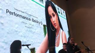 Becky G Mala Santa album performance in Santa Monica