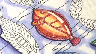 Adult Coloring With ILene Vick: Part 2/4 Fish. Background Coloring, White Space & Design Elements